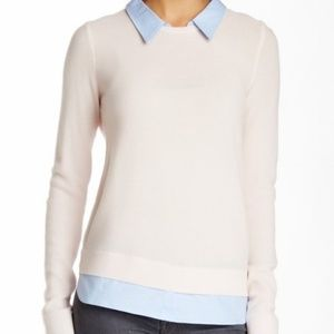 Joie Rika Layered Wool Cashmere Sweater Small